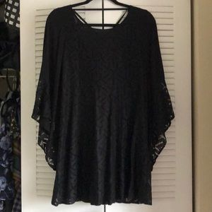 Minkpink Black Lace Dress with Bell Sleeves